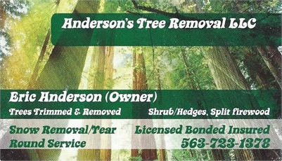 Anderson's Tree Removal LLC