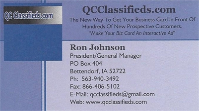 Your Business Card Can Take Center Stage on QCClassifieds.com