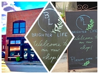 """""""Brighter Life"""" is an inspirational gift shop with books and custom framing."""