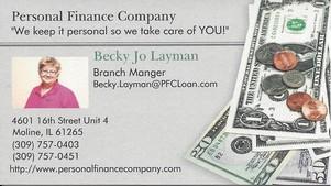 Personal Finance Company Becky Jo Layman