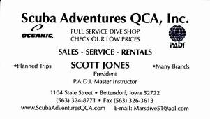 Scuba Adventures QCA, Inc. Scott Jones